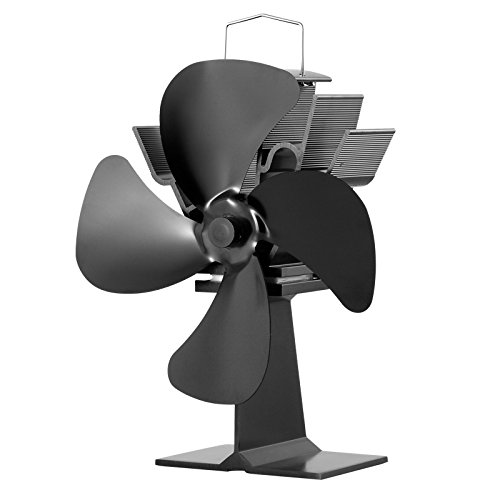 No Electricity Required Heat Powered Stove Fan Eco Fan for Wood Stoves Gas Stoves Pellet Stoves (Buck Wood Stove Parts compare prices)