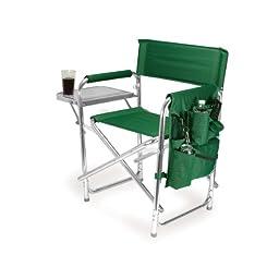 Picnic Time Portable Folding Sports Chair, Hunter Green