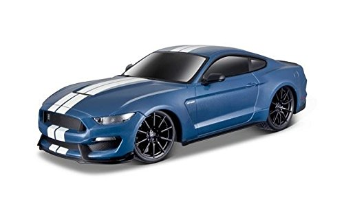Maisto-Black-124-Scale-Blue-Ford-Shelby-GT350-RC-Vehicle-81086