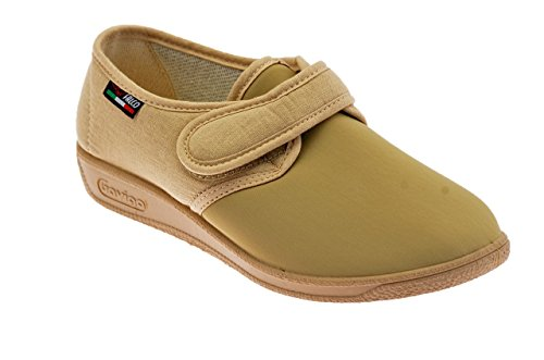 Scarpe Donna Morbidone Velcro Elastic. Pantofole .