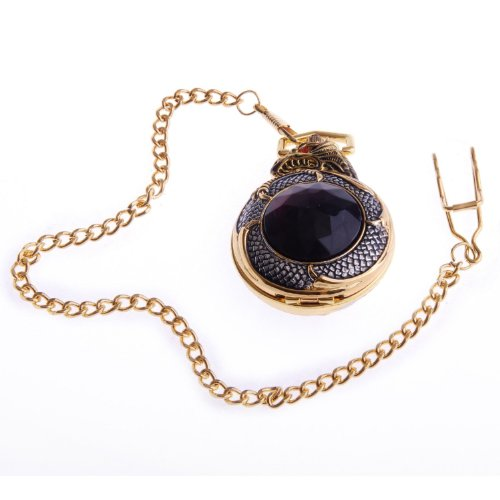 Dragon Pocket Watch With Chain Mechanical Hand Wind Full Hunter, High Quality With Fashion Design