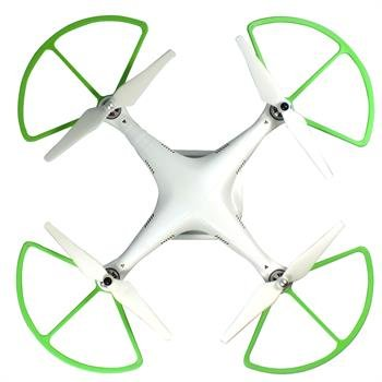 "RioRand® 9"" Propeller Prop Guards Protector Bumper Set for DJI PHANTOM 2 VISION (GREEN)"