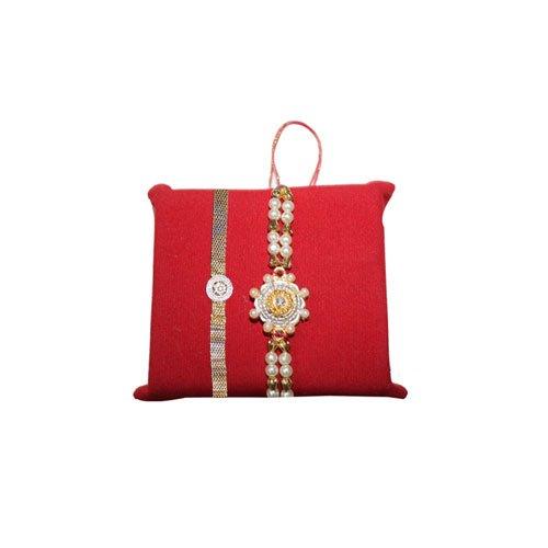 mandala-creations-rakhi-set-of-2-designer-bracelet-rakhi-set-with-haldirams-soan-papdi-set