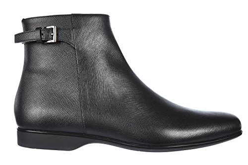 Prada stivaletti stivali uomo pelle nero EU 43 2TE077 053 F0002