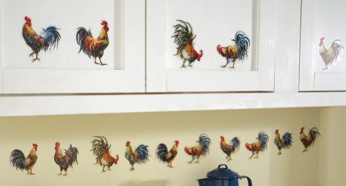 Country Farmhouse Rooster Removable Wall Decals By