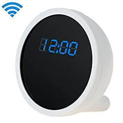 Professional Clock Camera Wifi/IP Wireless (iPhone/Android Monitoring) Full HD 720P / Movie Picture Taking Compact Kamera Digital Good Sport Action Photo Audio Voice Recording Shop Store High Definiton Resolution Hi Def Mini Pokcet Pinhole Secuirty Equipm