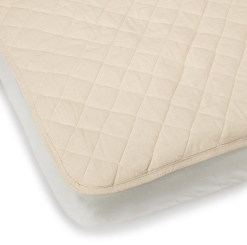 Bargoose Natural Cotton Top Flat Crib Pad front-112359