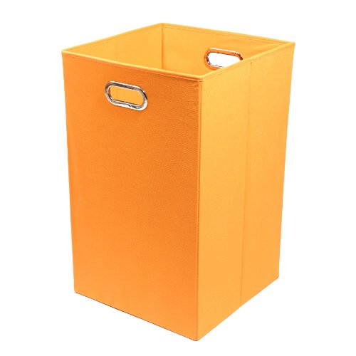 Review Modern Littles Bold Folding Laundry Basket, Solid Orange