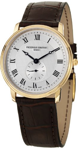 Frederique Constant Men's FC-235M4S5 Slime Line Brown/Silver Stainless Steel Watch