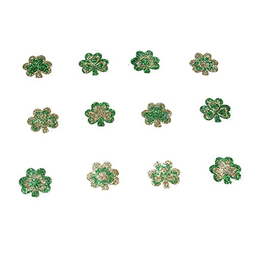 Glitter Shamrock Temporary Tattoos : package of 12
