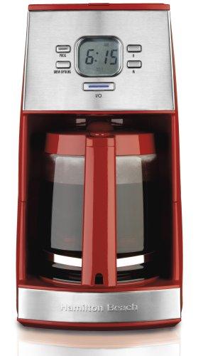Hamilton Beach 43253 Ensemble 12-Cup Coffeemaker with Glass Carafe, Red (Hamilton Ensemble Coffee Maker compare prices)