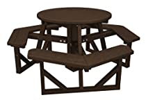 "Hot Sale POLYWOOD PH36MA Park 36"" Round Picnic Table, Mahogany"