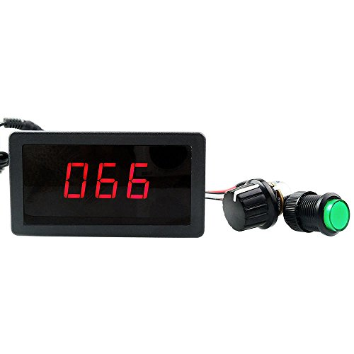uniquegoods 6V 12V 24V Digital Display LED DC Motor Speed Controller PWM Stepless Speed Control Switch HHO Driver - Black CCM5D (Pwm Motor Switch compare prices)