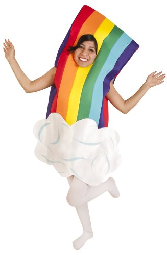 Child Rainbow Costume (Size: Medium 7-10)
