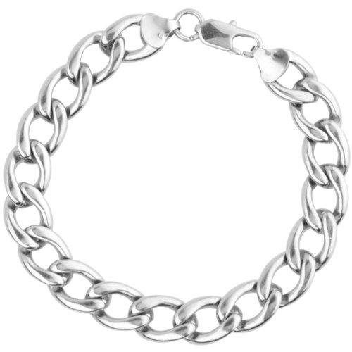 Inox Jewelry 316L Stainless Steel 11mm Figaro Chain Bracelet