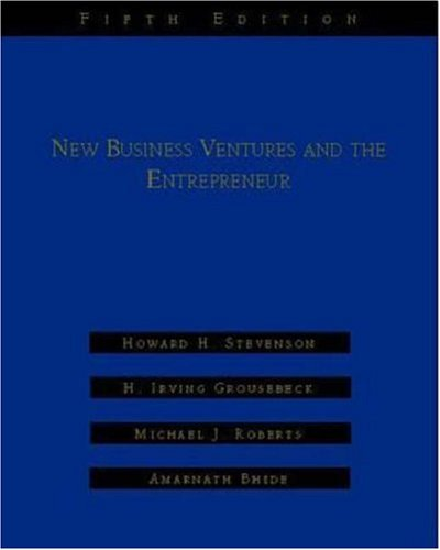 New Business Ventures and the Entrepreneur - Stevenson