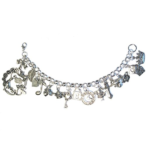 The Mad Tea Party Silver Plated Charm Bracelet