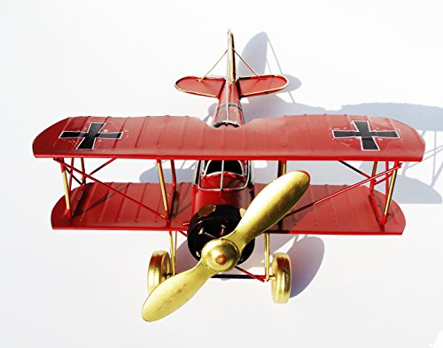 Amigo Global Home Decoration Crafts Figurines Miniatures Iron Casting Antique Imitation Vintage Biplane Wing Spiral Fighter Models - Red (Airbus A380 1 400 compare prices)
