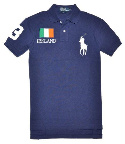 9ea8c330 Polo Ralph Lauren Men Custom fit Flag & Big Pony Logo Polo T-shirt - Ireland