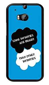 """Humor Gang Infinity Love Quote - The Fault In Our Stars Printed Designer Mobile Back Cover For """"HTC ONE M8 - HTC ONE M8S"""" (3D, Glossy, Premium Quality Snap On Case)"""