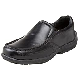 Jumping Jacks Over Drive Slip-On (Little Kid/Big Kid),Black Leather,27 EU (US Toddler 10 M)
