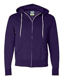Independent Trading Co Unisex Full Zip Hooded Sweatshirt. AFX90UNZ - Medium - Grape