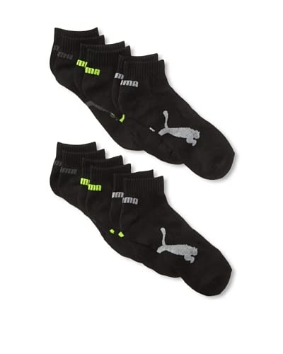 PUMA Men's Half Terry Quarter - 6 Pack Socks