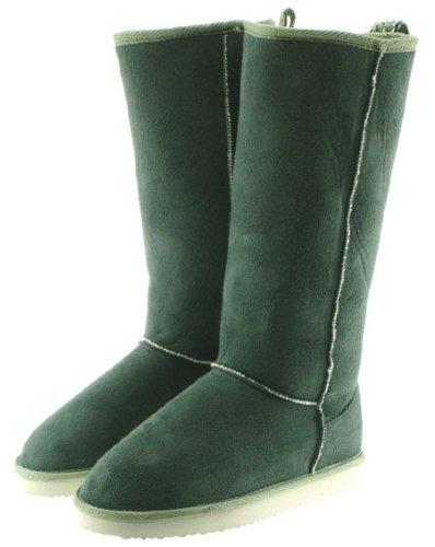 Couture Discount Damenstiefel Fell Boots, grün (WST6), Gr. 39