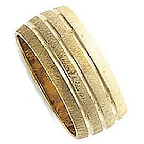 SRL16-166Y 8.0 Millimeters 14Kt Yellow Gold Designers Wedding Ring by Oromi, Finger Size 3½