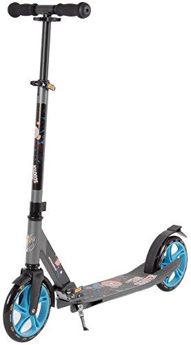 STAR-SCOOTER® Premium Design City Scooter Dein treuester Begleiter auch auf dem Schulweg ? 205mm Deluxe Cruising Edition ? Grau & Blau