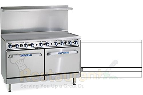 "Imperial Commercial Restaurant Range 60"" Griddle With 2 Standard Ovens Propane Model Ir-G60"