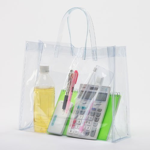 抗菌ビニールバッグ Mサイズ《透明》【防カビ】【日本製】