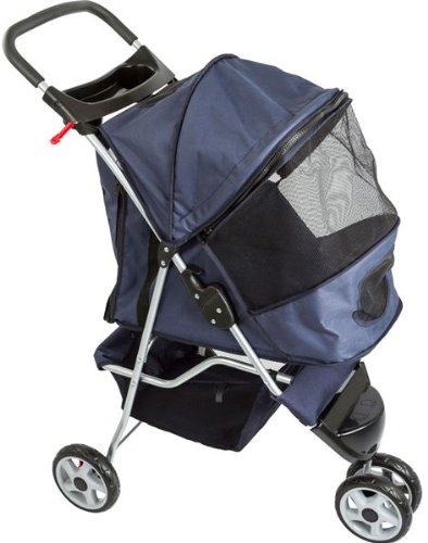 Blue Pampered Pet Jogging Stroller For Small Dogs And Cats front-557972