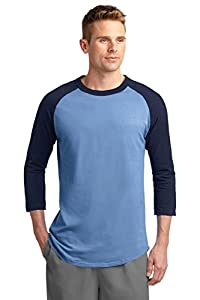 Sport-Tek Men's Colorblock Raglan Jersey XL Carolina Blue/Navy