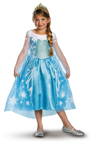 Disney Frozen Deluxe Elsa Costume Child Toddler Select Size: 4-6