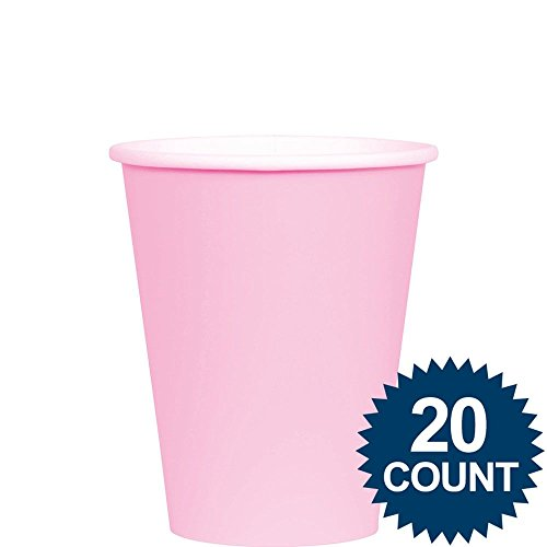 Amscan Birthday Celebration Party Cups, 9 oz, Pink