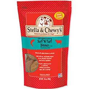 Stella & Chewy's Freeze Dried Surf & Turf (Beef and Salmon) Dinner for Dogs, 16oz