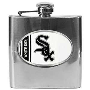 MLB Chicago White Sox 6oz Stainless Steel Flask by Great American Products