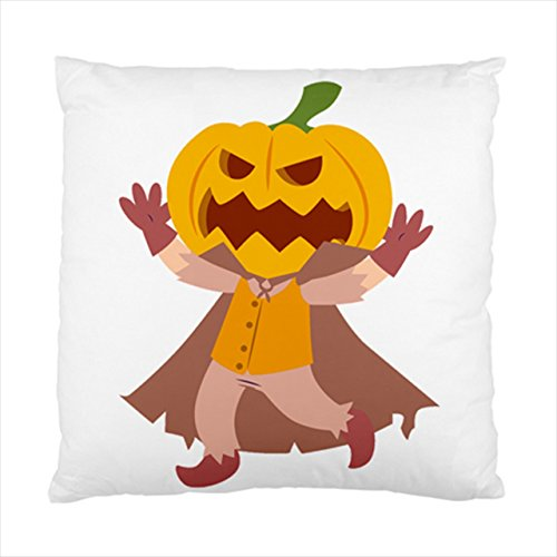 [pumpkin ghost prince cartoon halloween Square Throw Pillow Case Cushion Cover 17 x 17 Inches] (Vintage Blow Up Halloween Costumes)