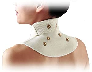 Magnetic Neck Shoulder Supporter Silk Warm New Ease Relief Pain Stiffness Collar by Banraishop
