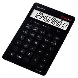 SHARP 12桁デザイン電卓(ナイスサイズタイプ) ブラック系 EL-N802-BX