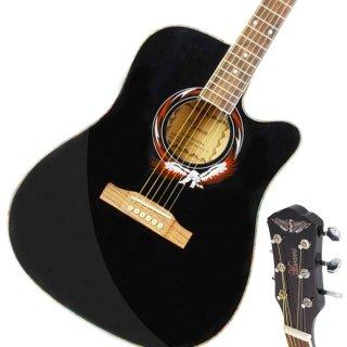 """Moppi Anfänger 41 """" Cutaway Folk Acoustic hölzerne Gitarre Schwarz jetzt kaufen"""