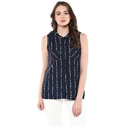 Raindrops Women's Top(1192B005G-Blue-L)