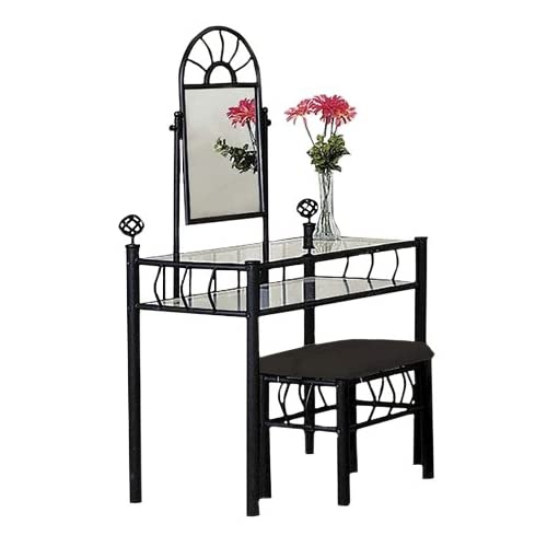 metal bedroom vanity with glass table bench set bedroom furniture