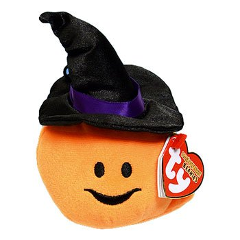 Ty Halloweenie Beanie Witchy - Pumpkin