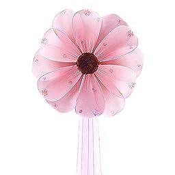 The Butterfly Grove Madison Flower Curtain Tieback, Pink Carnation, Medium, 8\