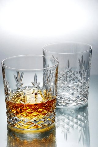 Buckingham Crystal Whisky Glasses - Set of 6