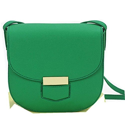 BAIGIO Borsetta a tracolla da donna stile casual e moderno modello leggero e giovanile borsa di vera pelle, Verde