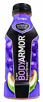 BODYARMOR Drink, Grape, 16 Ounce (Pack of 12)