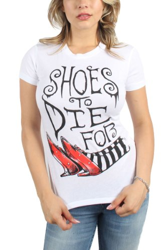 Wizard of Oz - Womens Shoes to Die For T-Shirt in White